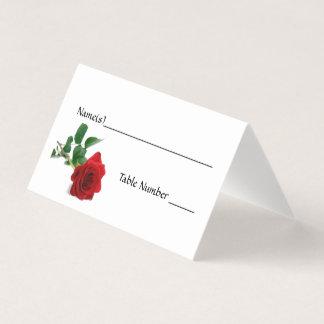 Watercolor Red Rose - Escort Cards