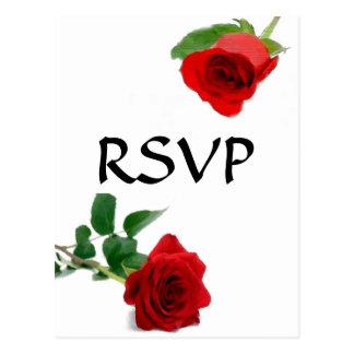 Watercolor Red Rose - RSVP Postcard