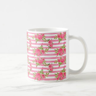 Watercolor Red Roses Coffee Mug