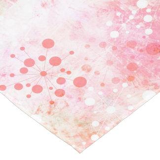 Watercolor Retro 60's Design in Pink Short Table Runner