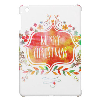 Watercolor Retro Merry Christmas Case For The iPad Mini