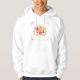 Watercolor Retro Merry Christmas Hoodie