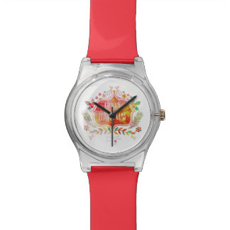 Watercolor Retro Merry Christmas Watch