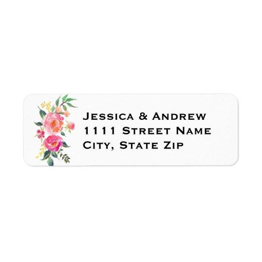 Watercolor Return Address Label