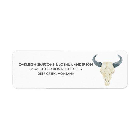 Watercolor Rodeo | Return Address Labels