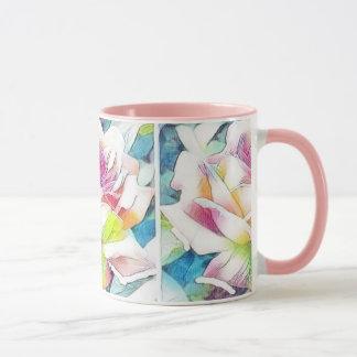 Watercolor Rose, 11 oz Combo Mug