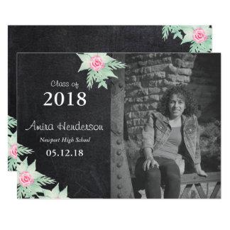 Watercolor Rose Graduate Card
