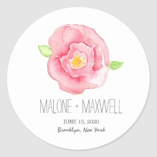 Watercolor Rose I Floral Wedding Sticker