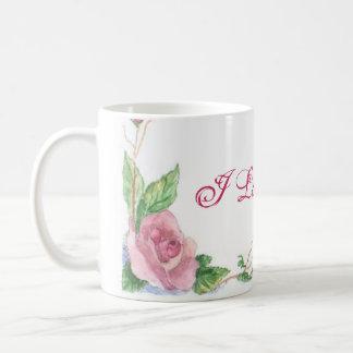 Watercolor Rose Classic White Coffee Mug