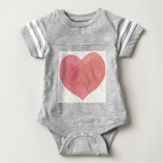 Watercolor Rose Painted heart Baby Bodysuit
