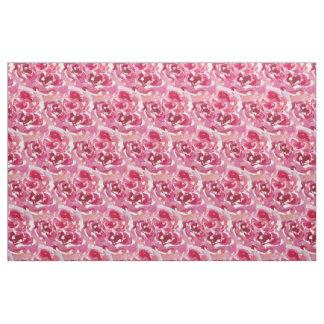 Watercolor rose pattern fabric