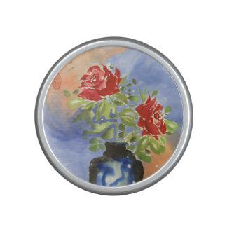 Watercolor Roses in Vase Speaker
