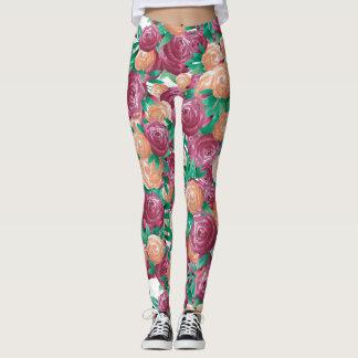 Watercolor Roses Leggings