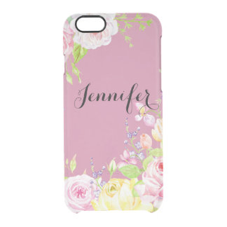 Watercolor Roses Personalized iPhone 6/6s Case