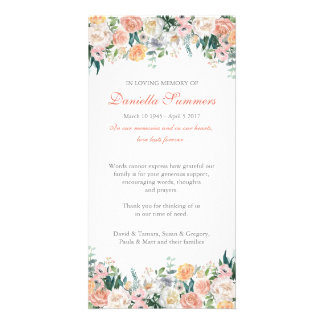 Watercolor Roses Sympathy Funeral Thank You Card Photo Greeting Card