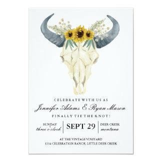 Watercolor Rustic Rodeo   Wedding Flowers 2 Card