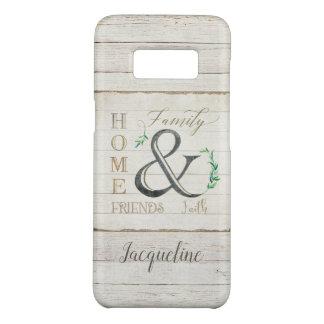 Watercolor Rustic Shiplap Home Family Farm Faith Case-Mate Samsung Galaxy S8 Case