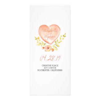 Watercolor rustic wedding programs full color rack card