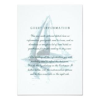 Watercolor Sailing Boat Wedding Insert Card 11 Cm X 16 Cm Invitation Card