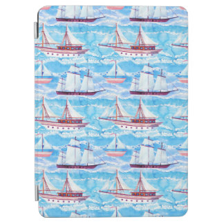 Watercolor Sailing Ships Pattern
