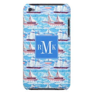 Watercolor Sailing Ships Pattern iPod Touch Cover