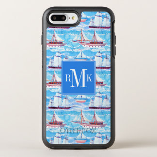 Watercolor Sailing Ships Pattern OtterBox Symmetry iPhone 8 Plus/7 Plus Case