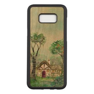 Watercolor Samsung Galaxy S8 Slim Cherry Wood Case