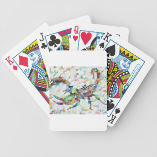 watercolor SCORPION Bicycle Playing Cards