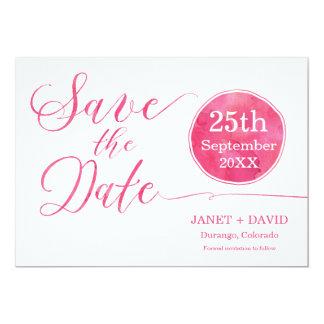 Watercolor Script Pink 13 Cm X 18 Cm Invitation Card
