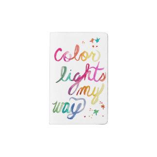 Watercolor Script Rainbow Brush Lettering Colorful Pocket Moleskine Notebook