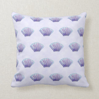 WATERCOLOR SEA SHELL PATTERN, Lavender Cushion