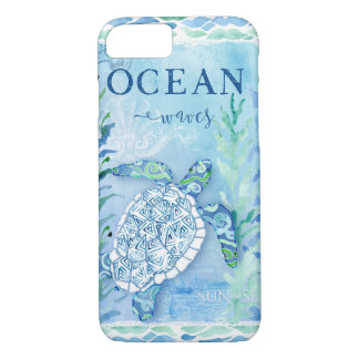 Watercolor Sea Turtle Ocean Modern Beach Triangle iPhone 8/7 Case
