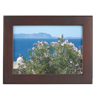 Watercolor sea view keepsake box