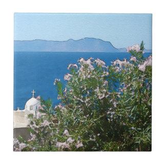 Watercolor sea view tile