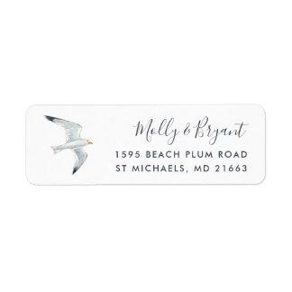 Watercolor Seagull Return Address Return Address Label