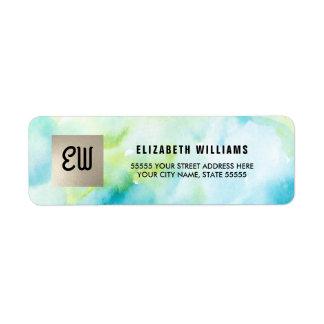 Watercolor | Silver Foil Return Address Labels