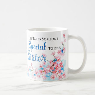 Watercolor Sister Birthday Gift Mug