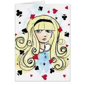 Watercolor Sketch Alice Card