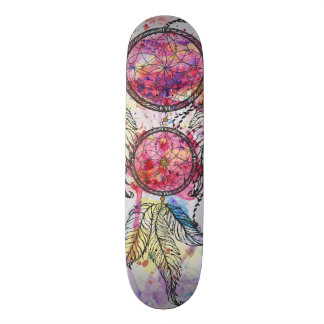 "Watercolor sketch Dreamcatcher ""Chase your Dreams"" Skate Board"