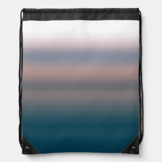 Watercolor Sky Pink and Blue Ombre Background Drawstring Backpacks