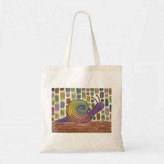 Watercolor Snail Tote Bags