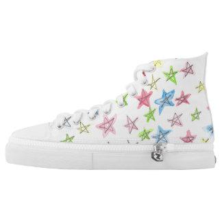 Watercolor Sneaker Printed Shoes