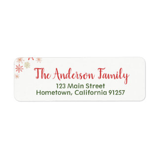 Watercolor Snowflake Address Labels