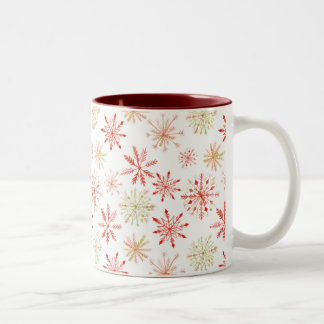 Watercolor Snowflake Mugs