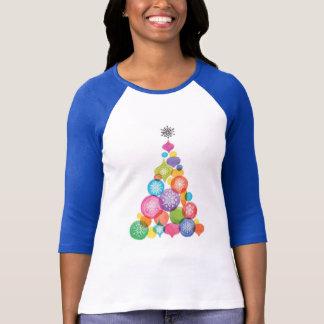 Watercolor Snowflake Ornamental Tree T-Shirt