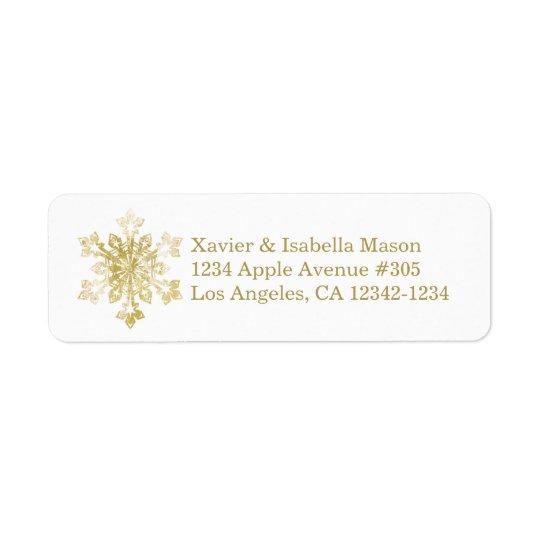 Watercolor Snowflake Return Address Label