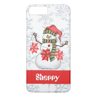 Watercolor snowman add name eight seven plus case