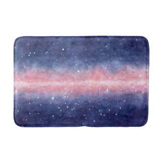 Watercolor Space bath mat