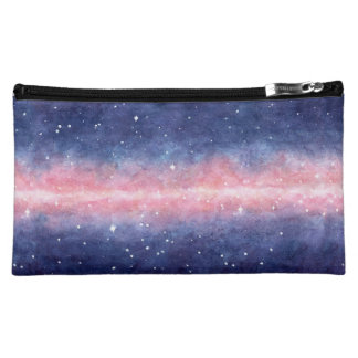 Watercolor Space cosmetic bag