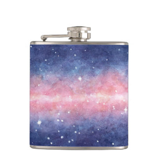 Watercolor Space flask